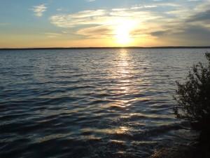 озеро Лукомльское закат