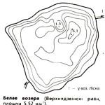 Карта глубин озера Белое