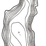 Карта глубин озера Иново