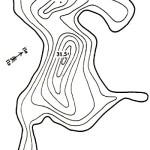 Карта глубин озера Круглик