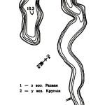 Карта глубин озера Лесковичи
