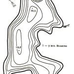 Карта глубин озера Некалач