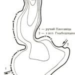 Карта глубин озера Оплиса