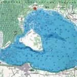 Карта глубин озера Освейское