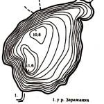 Карта глубин озера Свидно