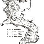 Карта глубин озера Селява