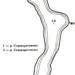 Карта глубин озера Серокоротня