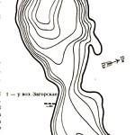 Карта глубин озера Сетовское