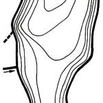 Карта глубин озера Бабча