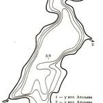 Карта глубин озера Урода