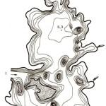 Карта глубин озера Несьпиш