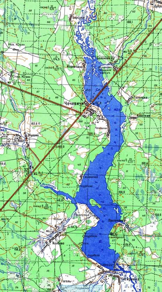 карты местности для рыбалки