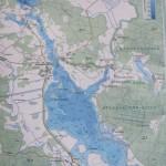 Карта глубин озера Богинское