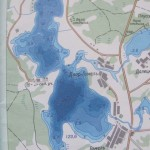 Карта глубин озера Гомель