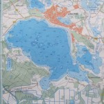 карта глубин озера Дривяты