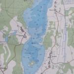 Карта глубин озера Жеринское