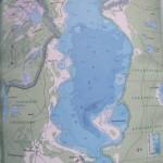 Карта глубин озера Лисно
