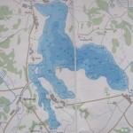 Карта глубин озера Паульское