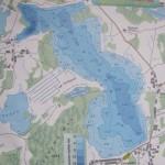 Карта глубин озера Полозерье