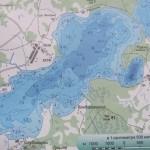 Карта глубин озера Укля
