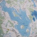 Карта глубин озера Черствятского